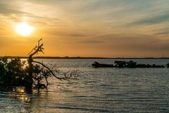 A Beautiful Sunset over The Bay Stock Photography