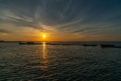 A Beautiful Sunset over The Bay Stock Image