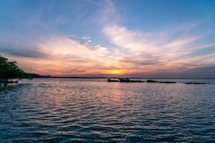A Beautiful Sunset over The Bay Royalty Free Stock Images