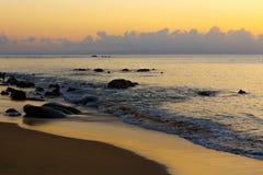 Beautiful sunset over beach, Madagascar royalty free stock photos