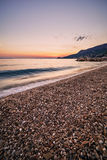 Beautiful sunset over the beach Royalty Free Stock Image