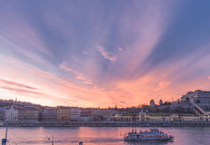 Beautiful sunset over Budapest Stock Photography