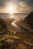 Beautiful sunset over California beach Stock Photos
