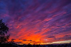 Beautiful sunset over the country royalty free stock photos