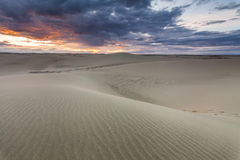 Beautiful sunset over the desert in Mongolia. Stock Photography