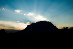 Beautiful sunset over the Doi Luang Mountains of Thailand Royalty Free Stock Photos