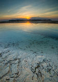 Beautiful sunset. Sunset over Gili Meno in Indonesia Royalty Free Stock Images