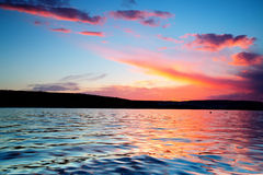Beautiful sunset over the horizon Royalty Free Stock Photos