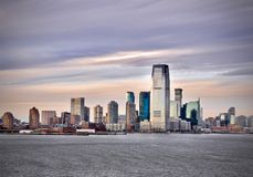 Jersey City on the Hudson royalty free stock photo
