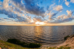 Beautiful sunset over lake Royalty Free Stock Image