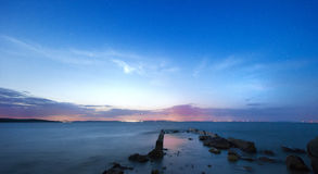 Beautiful sunset over the lake Royalty Free Stock Image
