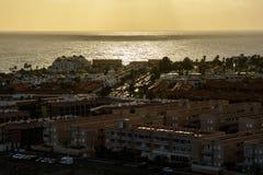 Beautiful sunset over Las Galletas Stock Photos