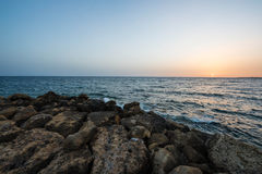 Beautiful sunset over the Mediterranean Sea Royalty Free Stock Photography