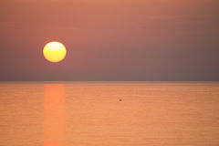 Beautiful sunset over Mediterranean sea. Turkey in autumn. Alany Stock Photos