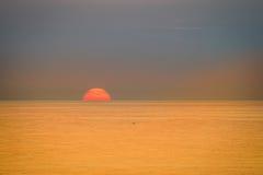 Beautiful sunset over Mediterranean sea. Turkey in autumn. Alany Stock Photos