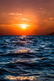 Beautiful sunset over the Mediterranean sea Stock Photos