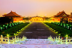 Beautiful sunset over the National Taiwan Democracy Square Royalty Free Stock Images