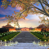 Beautiful sunset over the National Taiwan Democracy Square Royalty Free Stock Photography