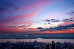 Beautiful sunset over New Jersey Royalty Free Stock Photo