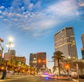Beautiful sunset over New Orleans, Lousiana Royalty Free Stock Image