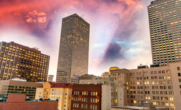 Beautiful sunset over New Orleans, Lousiana Stock Image