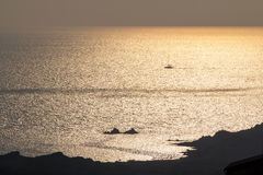 Beautiful sunset over the ocean Royalty Free Stock Photography