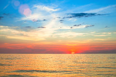 Beautiful sunset over ocean. Nature. Royalty Free Stock Photo