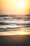 Beautiful sunset over the ocean. Sunrise in the sea. Stock Image