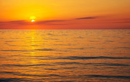 Beautiful sunset over the ocean. Stock Photography