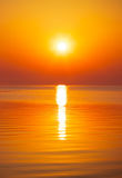 Beautiful sunset over the ocean. Royalty Free Stock Photography