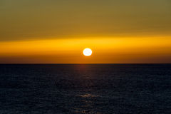 Beautiful sunset over the ocean. Sunrise in the sea Stock Image