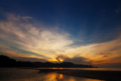 Beautiful sunset over the ocean. Thailand, Krabi Stock Photos