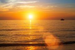 Beautiful sunset over ocean. Travel. Stock Image