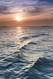 Beautiful Sunset over the Ocean Waters of Key West Royalty Free Stock Photography