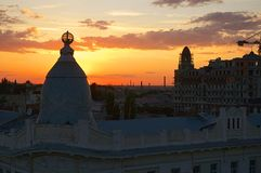Beautiful sunset over Odessa Royalty Free Stock Image