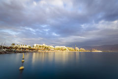 Beautiful sunset over Red Sea in Eilat, Israel Stock Image