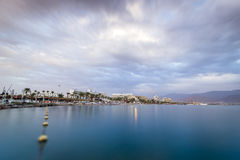 Beautiful sunset over Red Sea in Eilat, Israel Royalty Free Stock Photography