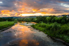 Free Beautiful Sunset Over River Royalty Free Stock Photos - 76860728