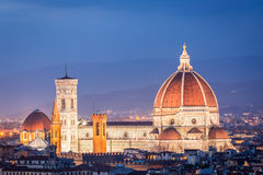 Beautiful sunset over the Santa Maria del Fiore in Florence Stock Photos