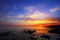 Beautiful sunset over sea Stock Image
