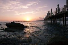 Beautiful sunset over the sea Stock Photos