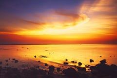 Beautiful Sunset Over Sea Stock Photos