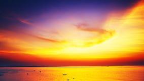 Beautiful Sunset Over Sea Stock Image