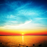 Beautiful Sunset Over Sea Stock Images