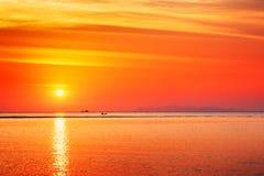 Beautiful Sunset Over Sea Royalty Free Stock Photos