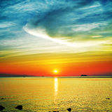 Beautiful Sunset Over Sea Royalty Free Stock Images