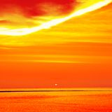 Beautiful Sunset Over Sea Stock Photo