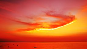 Beautiful Sunset Over Sea Royalty Free Stock Photography