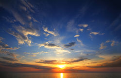Beautiful sunset over sea Royalty Free Stock Photos
