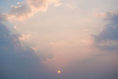 Beautiful sunset over the sea Stock Photography